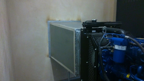 Canalizacion aire instalacion de grupo electrogeno