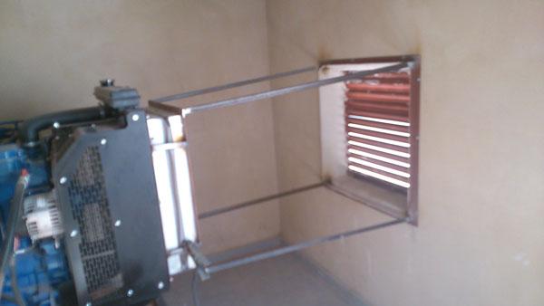 Salida de aire instalacion de grupo electrogeno